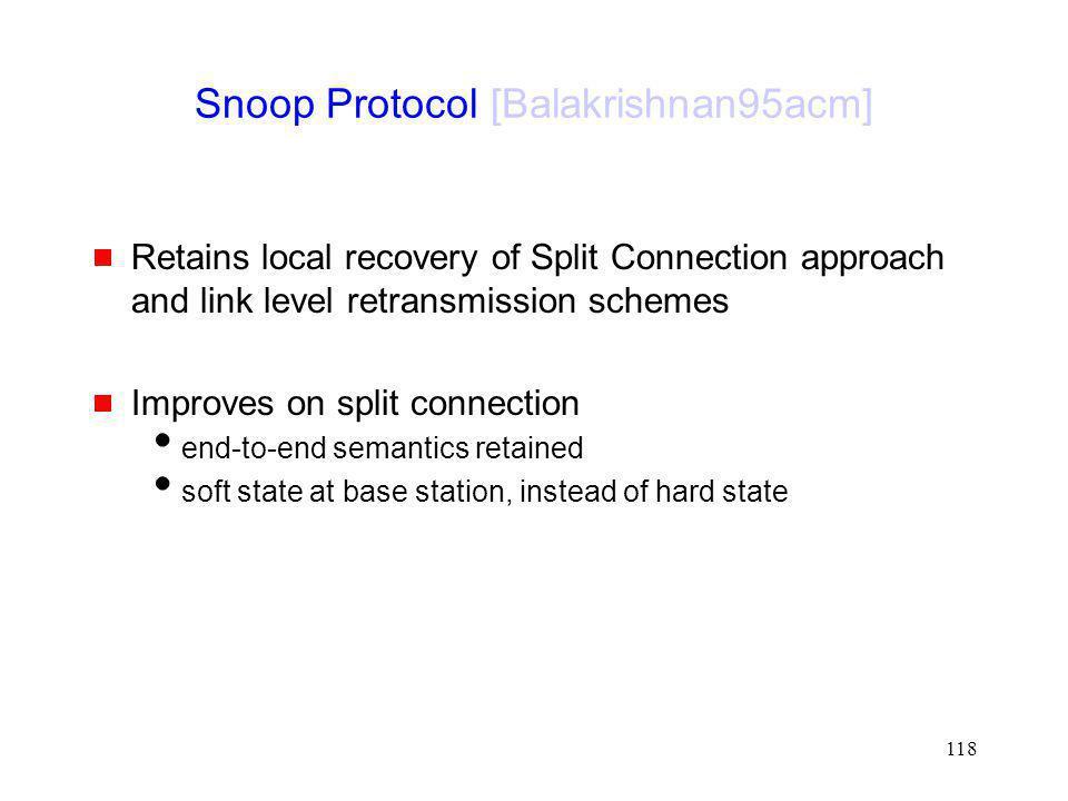 Snoop Protocol [Balakrishnan95acm]